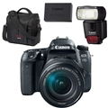 Canon EOS 77D DSLR Camera w/ 18-135mm IS USM Lens<br> w/ Gadget Bag, LP-E17 Battery & 430EX III RT Speedlite