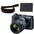 Canon EOS M6 Mirrorless Camera w/ 18-150mm Lens (Black) <br> w/ Canon Wrist Strap & LP-E17 Battery Pack!