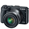 Canon EOS M3 Mirrorless Camera w/ 18-55mm (Black)