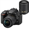 Nikon D5600 DSLR Camera w/  AF-P DX Nikkor 18-55mm f3.5-5.6G VR Lens (Refurbished) <br> w/ Nikkor AF-S DX 55-200mm f4-5.6G ED VR II