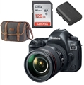 Canon EOS 5D Mark IV DSLR Camera w/ 24-105mm F4L II Lens <br> w/ Sandisk Ultra 128GB SD Card! + Extra battery + Canon Gadget Bag
