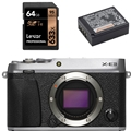 Fujifilm X-E3 Mirrorless Digital Camera (Body, Silver) - Bundle