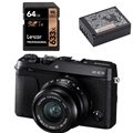 Fujifilm X-E3 Digital Camera w/ Fujinon 23mm F2.0 Lens<br> (Black) - Bundle