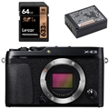 Fujifilm X-E3 Mirrorless Digital Camera (Body, Black) - Bundle