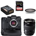 Fujifilm X-H1 Mirrorless Digital Camera Body w/ Battery Grip Kit<br> & Fujinon 18-135mm Lens ** Friends & Family Bundle! **