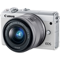 Canon EOS M100 w/ 15-45mm Lens (White)