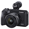 Canon EOS M6 Mark II Mirrorless Digital Camera w/ 15-45mm Lens & EVF-DC2 Viewfinder (Black)
