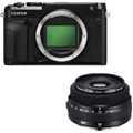 Fujifilm GFX 50R Medium Format Mirrorless Camera <br> w/ 50mm F3.5 R LM WR Lens Kit