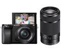 Sony Alpha a6100 MirrorlessCamera w/ 16-50mm & 55-210mm Lenses