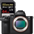 Sony Alpha A7II (Body Only) (ILCE7M2/B) <br> w/ Sandisk Extreme 64GB SD Card