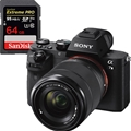 Sony Alpha a7II w/ FE 28-70mm F3.5-5.6 OSS Lens (ILCE7M2K/B) <br> w/ Sandisk Extreme 64GB SD Card