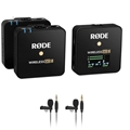 Rode Wireless GO II 2-Person Compact Digital Wireless Omni Lavalier Microphone System/Recorder Kit (2.4 GHz, Black)