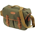 Billingham Hadley Pro (Sage Fibrenyte, tan leather, brass fittings)