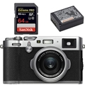 Fujifilm X100F Digital Camera (Silver) - Bundle