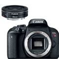 Canon EOS Rebel T7i DSLR Camera (Body Only) <br> w/ Canon EF 40mm F2.8 STM