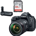 Canon EOS 6D Mark II DSLR Kit w/ EF 24-105mm f4 L IS II USM Lens<br> w/ BG-E21 Battery Grip & Sandisk Ultra 128GB SD Card!