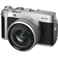 FUJIFILM X-A7 Mirrorless Digital Camera w/ 15-45mm Lens (Silver) + BONUS