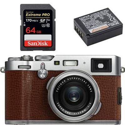 Fujifilm X100F Digital Camera (Brown) - Bundle
