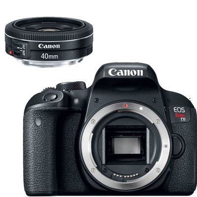 Canon Eos Rebel T7i Dslr Camera Body Only W Canon Ef 40mm F2 8 Stm