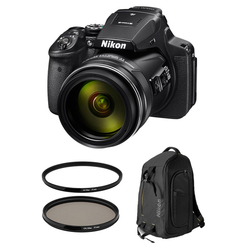 Nikon Coolpix P900 w/ Nikon DSLR BackPack + Accessories Bundle!