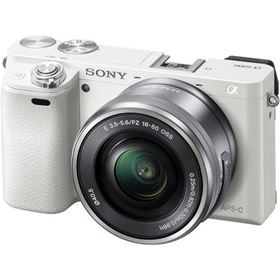 Sony a6000 w/ 16-50mm Power Zoom (White) (ILCE6000L/W)