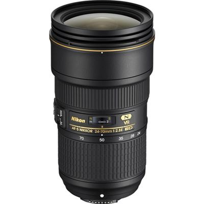 Nikkor AF-S 24-70mm f/2.8E ED VR Lens with Bonus