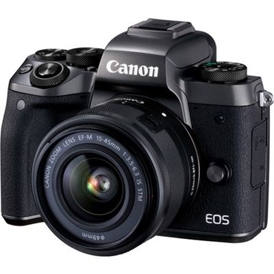 Canon EOS M5 Mirrorless Digital Camera w/ 15-45mm Lens