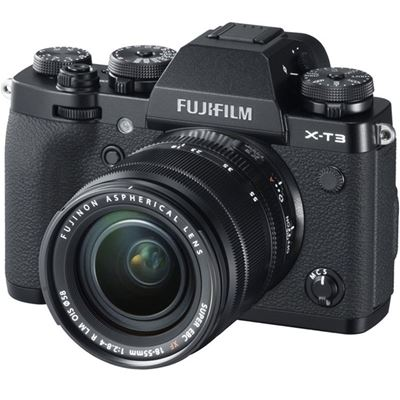 Fujifilm X-T3 Mirrorless Digital Camera w/ 18-55mm Lens (Black) with Bonus Items + BATTERY GRIP (MAIL-IN OFFER)