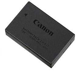 Canon LP-E17 Lithium-Ion Battery Pack (for T6i,T6s,T7i, 77D, SL2, M3, RP)