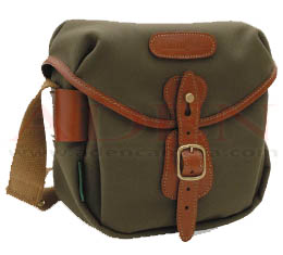 Billingham Hadley Digital (Sage fibrenyte, tan leather, brass fittings)