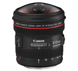 Canon EF 8-15mm f4L Fisheye