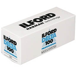 Ilford Delta 100 Black & White Print Film - 120 Roll