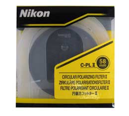 Nikon C-PL II 58mm Circular Polarizing Filter