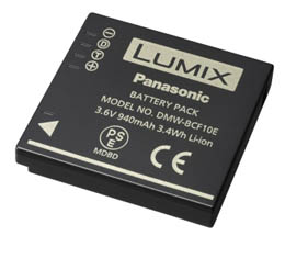 Panasonic DMWBCF10 - Lithium Ion Battery for DMC - TS1 / FX48 / FX580 / FS Series