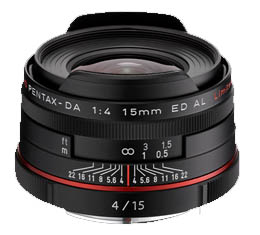 Pentax HD DA 15mm f4 ED AL Limited - Black