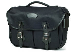 Billingham Hadley Pro (Black Fibrenyte, black leather, nickel fittings)