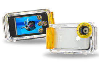 Seashell SS-i Waterproof Housing - Amber (For iPhone 3G, 3Gs, 4, 4s)