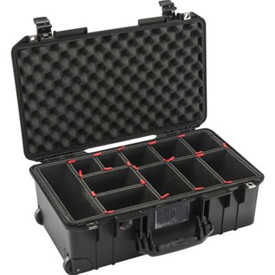 Compare Prices Of  Pelican 1535AirTP Wheeled Carry-On Case (Black, TrekPak Divider System)