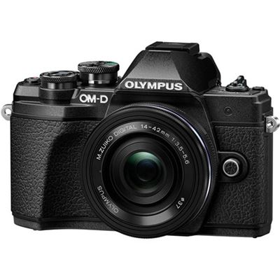 Image of Olympus OM-D E-M10 Mark IIIs Digital Camera w/ 14-42mm R Lens (Black)