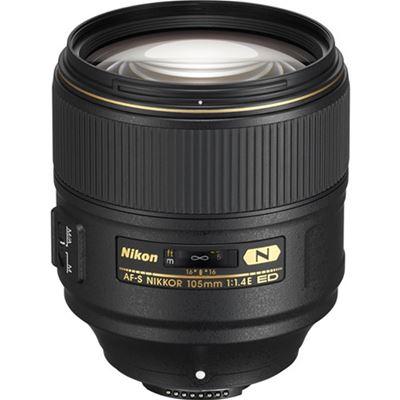 Image of NIKKOR AF-S 105mm F1.4E ED Lens with Bonus