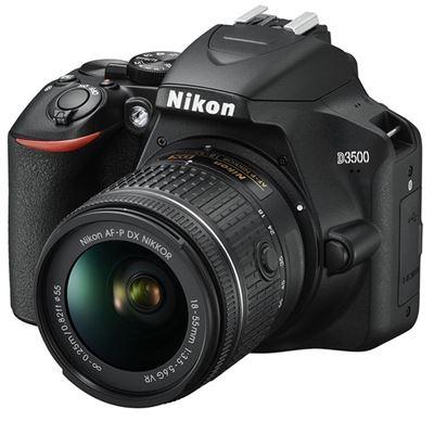 Image of Nikon D3500 DSLR Camera w/ AF-P 18-55mm VR Lens