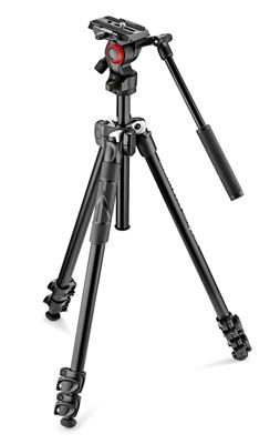 Compare Prices Of  Manfrotto 290 Light 2-Stage Aluminum Tripod with Befree Live Fluid Video Head Kit #MT290LTA3-V