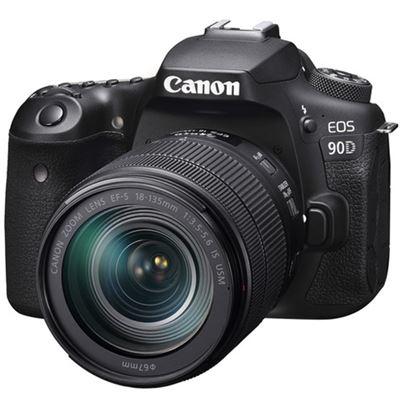 Image of Canon EOS 90D DSLR Camera w/ 18-135mm Lens + BONUS