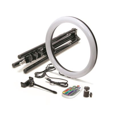 """Compare Prices Of  Mobifoto 12"""" RGB Colour Ring Light Kit"""
