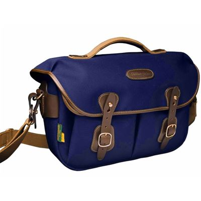 Image of Billingham Hadley Small Pro - Navy Canvas / Chocolate Leather