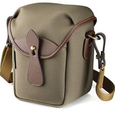 Image of Billingham 72 Small Camera Bag (Sage FibreNyte/Chocolate Leather)