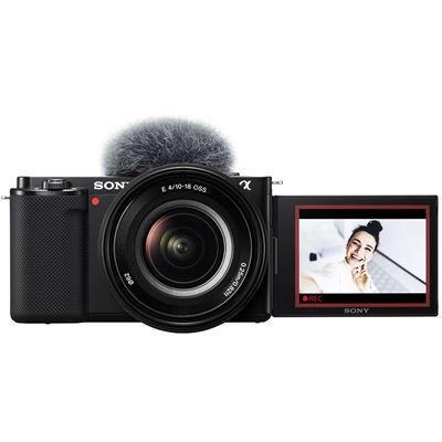 Image of Sony ZV-E10 Mirrorless Camera w/ 16-50mm Lens (Black)