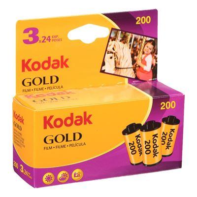 Image of Kodak GOLD 200 Color Negative Print Film (24exp, 3-Pack)