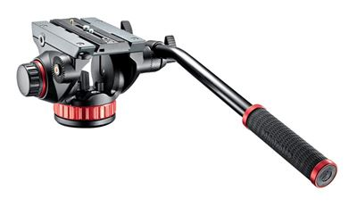 Image of Manfrotto #MVH502AH Pro Video Head Flat Base w/Sliding Plate