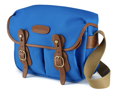 Image of Billingham Hadley Small (Imperial Blue w/ Tan Leather Trim and Orange Lining)